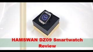 HAMSWAN Bluetooth 3.0 Smartwatch DZ09 Review | BEST WATCH?