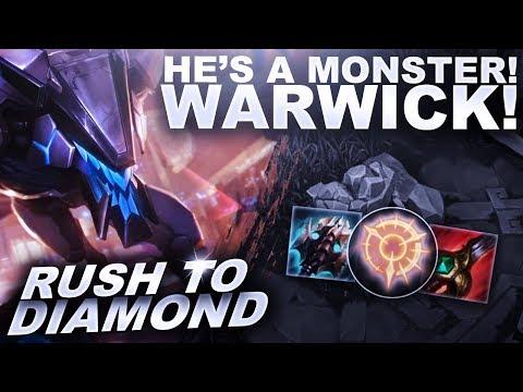 WARWICK IS A MONSTER JUNGLER! - Rush to Diamond | League of Legends