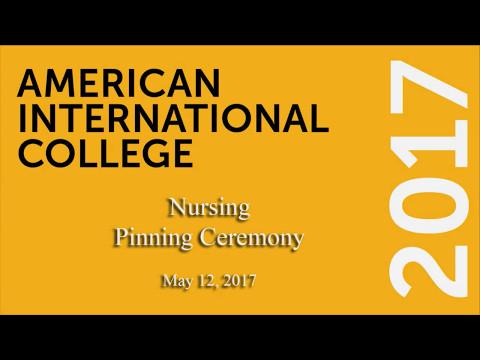 AIC Nursing Pinning 2017
