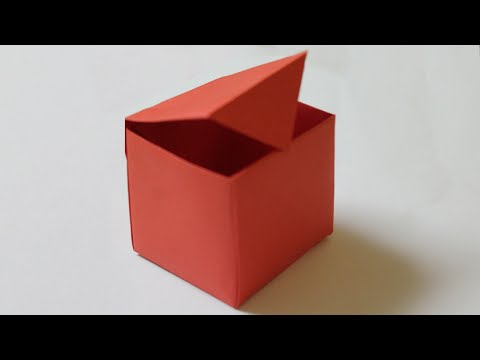 How to make a paper box that opens and closes