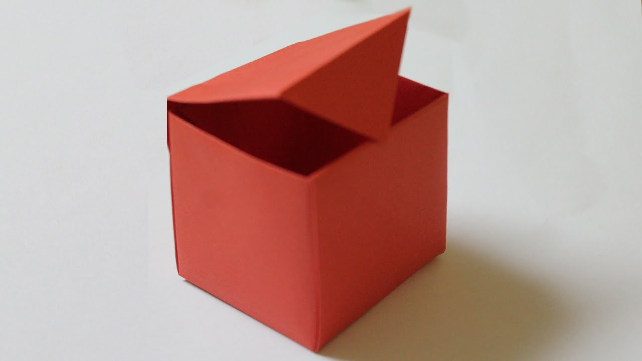 How To Make A Paper Box That Opens And Closes Youtube