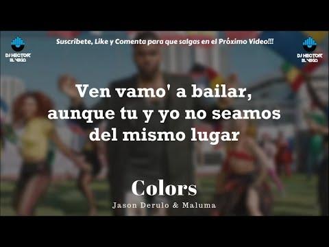 Maluma & Jason Derulo - Colors (Letra/Lyrics)