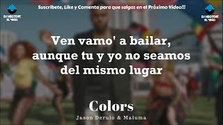 Maluma & Jason Derulo - Colors (Letra/Lyrics)