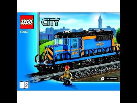 Lego Cargo Train Set 60052 Instructions Youtube