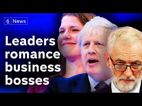 General Election 2019: Party leaders bid for business votes