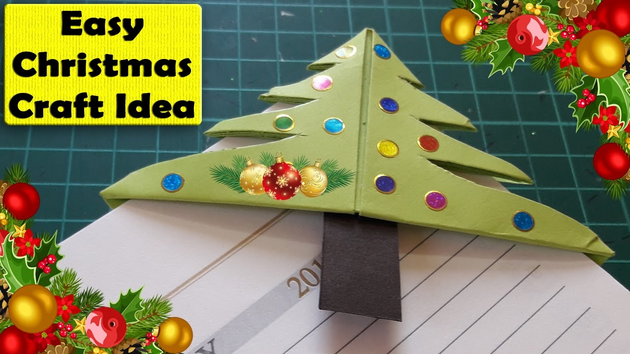 Easy Christmas Tree Bookmark Corner