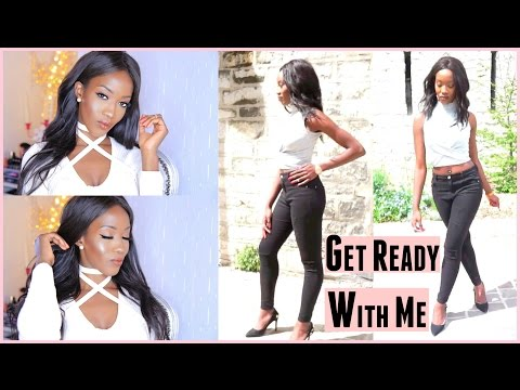 GET READY WITH ME AND BEAUTY GLAM PARIS ! (Makeup & Outfit)