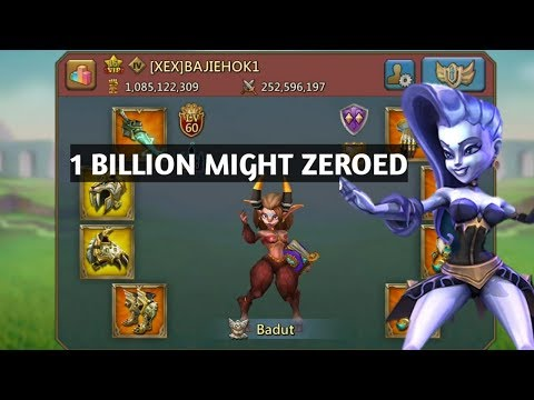 1 Billion Might Online Zeroed By LH FAM- Lords Mobile