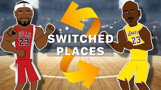 If Lebron James and Michael Jordan SWITCHED PLACES! (Lebron James vs Michael Jordan Animation)