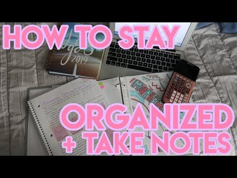 HOW TO STAY ORGANIZED IN SCHOOL: PLANNING, HOW TO TAKE NOTES & MORE!