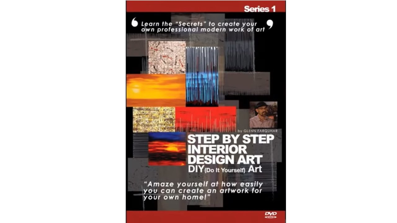 Step By Step Interior Design Art DVD Series 1 By Glenn Farquhar Video By  ArtistSupplySource.com