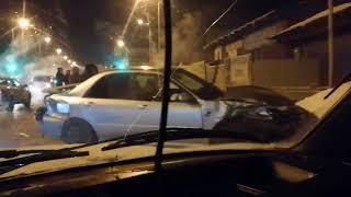 Серьезная авария на Красноярском тракте (13.01.2018)