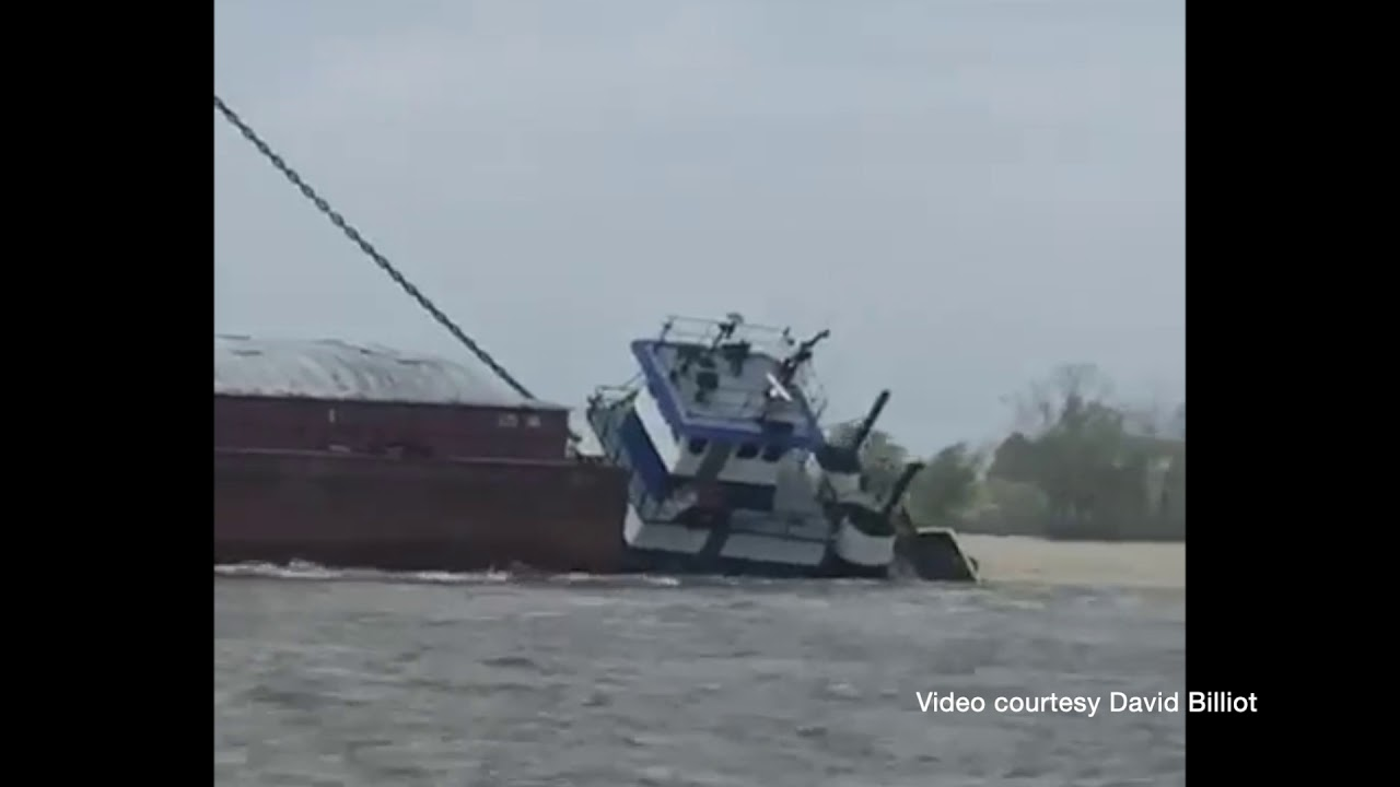 Incident Video: Towing Vessel Sinks Near Baton Rouge