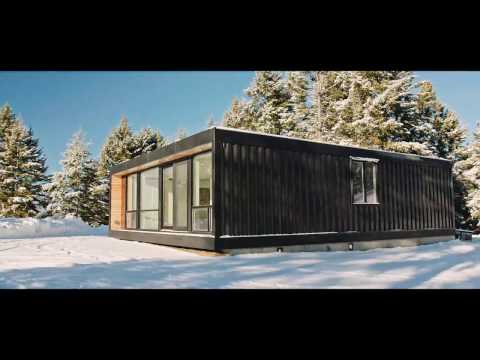 Modern Shipping Container Home Install.   Honomobo.