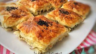 Peynirli Alt Üst Böreği Tarifi | Yapımı en kolay ve en leziz Börek | Tadimiztuzumuz