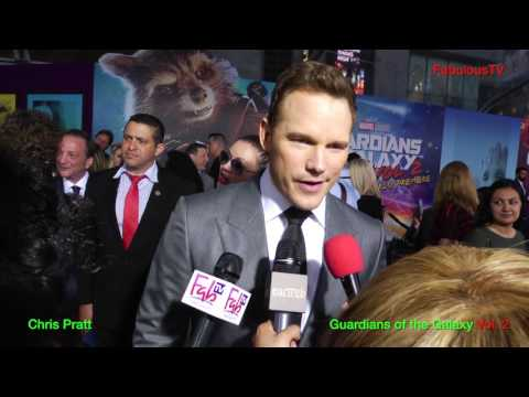 Chris Pratt at the 'Guardians of the Galaxy' Vol. 2 premiere