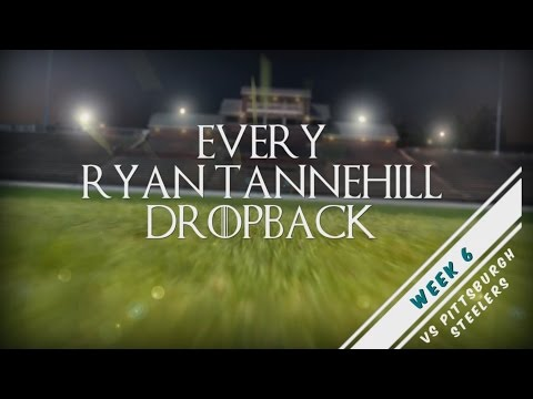 Every Ryan Tannehill Dropback - Week 6 vs PIT