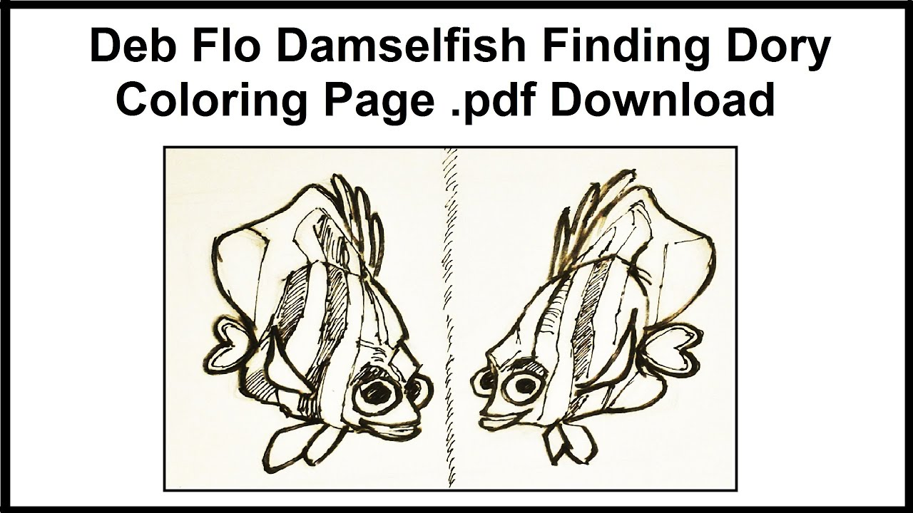 deb flo the damselfish finding dory coloring page pdf download