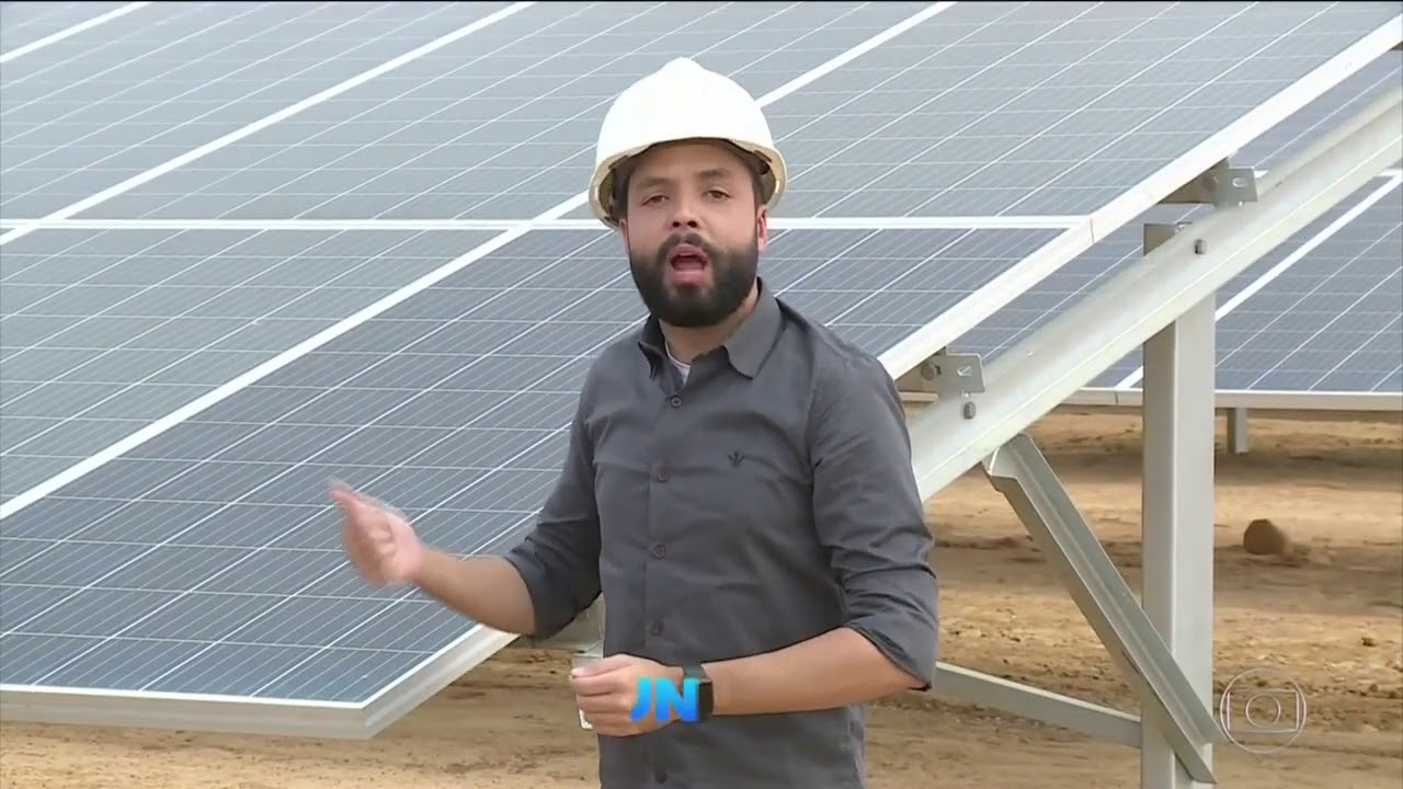 JORNAL NACIONAL PRIMEIRA USINA DE GERAÇÃO DE ENERGIA SOLAR FLUTUANTE