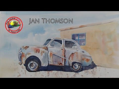 Art Show with Jan Thomson teaching Watercolour Landscapes on Colour In Your Life