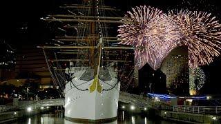 [ 4K UHD ] 横浜夜景と花火「みなとみらいスマートフェスティバル」Yokohama Minatomirai Fireworks