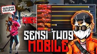 Sensi Do Two9 Mobile!! ⚙️🔥 GRUDA NA CABEÇA! MELHOR SENSIBILIDADE PARA SUBIR CAPA NO FREE FIRE