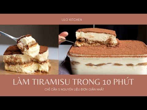 Công Thức Làm Tiramisu Trong 10 Phút, Chỉ Cần 5 Nguyên Liệu Đơn Giản Nhất | 10 Minutes Tiramisu
