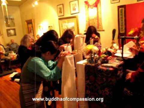 Song of Ganachakra Puja, Washington DC Palyul Center,  Chanting mantra Guru Rinpoche