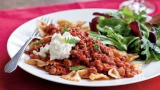 Farfalle with Lamb Ragu, Ricotta, and Mint Recipe