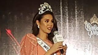 Miss Universe 2018 Catriona Gray Naging Emosyonal sa Mainit Na Pagtanggap sa Kanya Ng Filipino Media