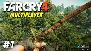 FAR CRY 4 - MULTIPLAYER (PS4) #1 - JOGANDO DE ARCO E ELEFANTE INSANO