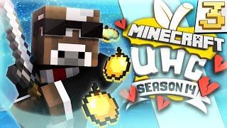 Minecraft CUBE UHC Season 14 - HUNTING DFIELD & TYBZI!! - Episode 3 ( Ultra Hardcore )