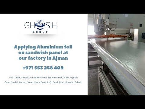 Aluminium foil sandwich panel manufacturing process UAE