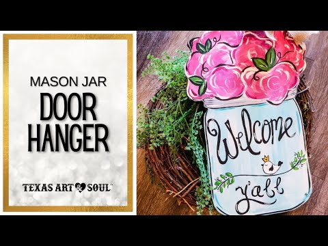 How to Cut a Wooden Door Hanger || Texas Art and Soul