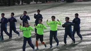 高崎商業 試合前アップ 2019/11/30 @あずまサッカースタジアム.