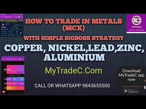 MyTradeC | MCX METAL'S WROKOUT IN SIMPLE | BIGBOSS STRATEGY IN TAMIL