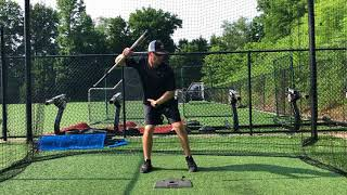 how to stay back in the baseball swing