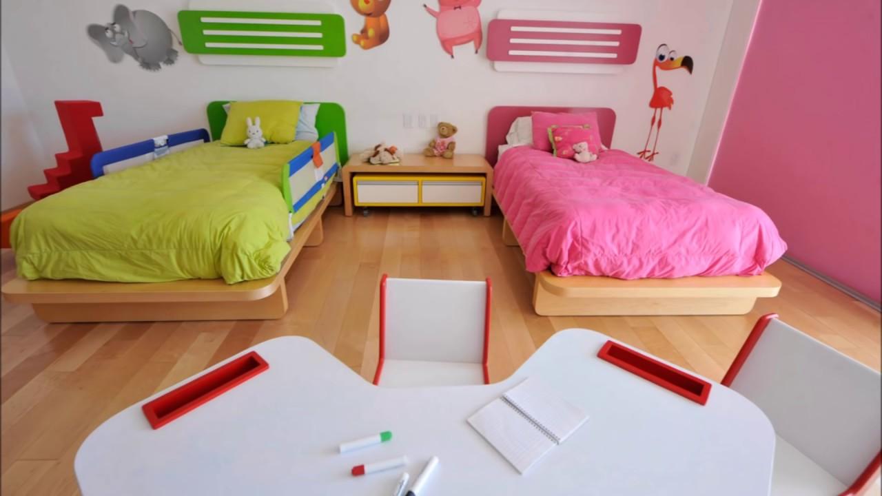 25 habitaciones compartidas ni as ni os youtube - Habitaciones pintadas para ninos ...