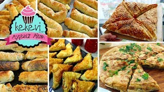 Hazır Yufkadan 5 Pratik Börek Tarifi (Çıtır Börek, Buzluk, Tava Böreği) Ayşenur Altan Tarifleri