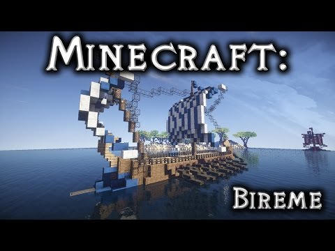 Minecraft: Roman/Greek Ship Tutorial (Bireme)