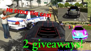 When the cop steals your car... (+ 2 giveaways) | Car Parking Multiplayer