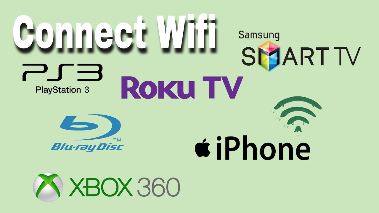 Connect Wifi on PS3, Roku, Bluray, Xbox360, Samsung TV, & iPhone 6