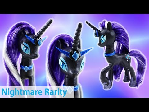 Nightmare Rarity Custom My Little Pony Tutorial with Hair Rerooting