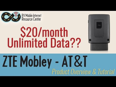 ZTE Mobley - AT&T $20/month Unlimited Data Plan - Product Overview & Tutorial