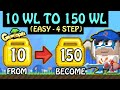 Growtopia Profit : 10 WL TO 150 WL, EASY - ONLY 4 STEP! **FAST** (How To Get Rich 2019)