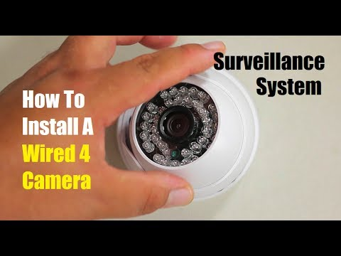 How To Install A Wired 4 Camera Surveillance System Canavis How To Install Security Camera Wiring on