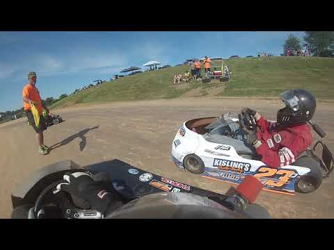 Rice Lake Speedway Kart Track, Adult Heavy Class. Feature Race, 7-13-2019.