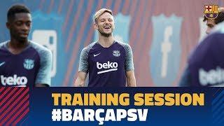 Barça prepare for return of Champions League against PSV