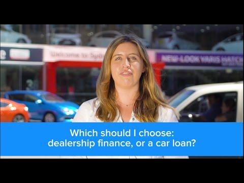 Dealership Finance Vs Car Loans | Finder.com.au
