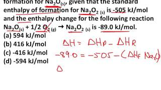 6.6 Standard Enthalpy oḟ Formation and Reaction